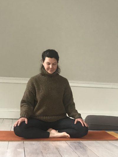 Rachel teaching her Hatha Yoga class at YogaSpace Yorkshire