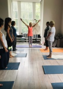 Pam's Pilates class at YogaSpace Yorkshire near Bedale