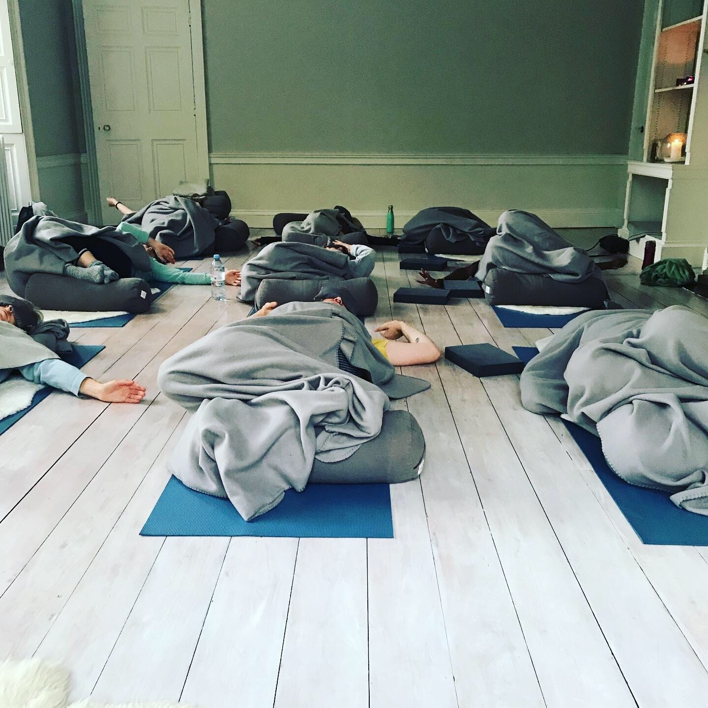 relaxation at the end of YogaSpace Yorkshire kundalini yoga class