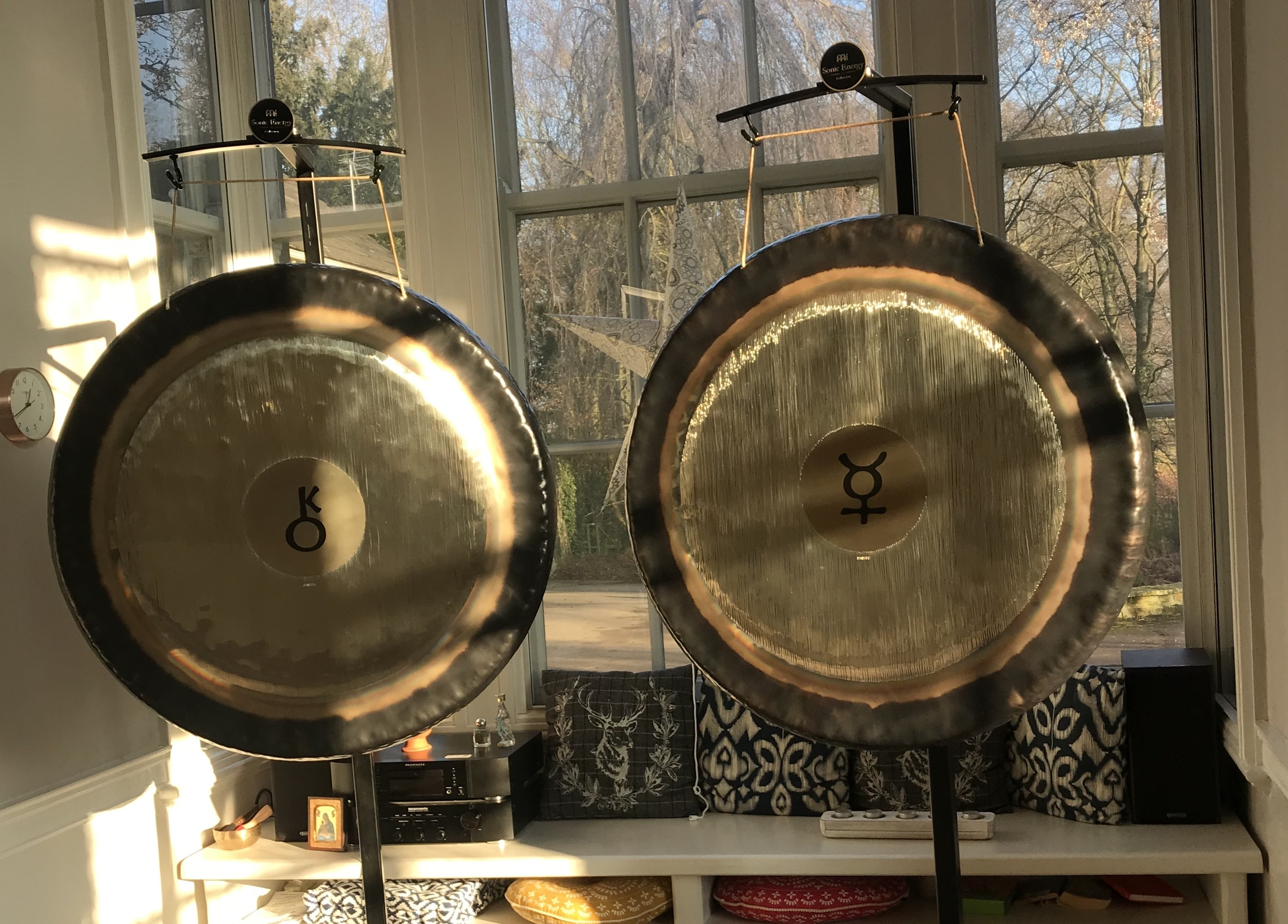 YogaSpace Yorkshire gong bath Mercury and Chiron Paiste gongs