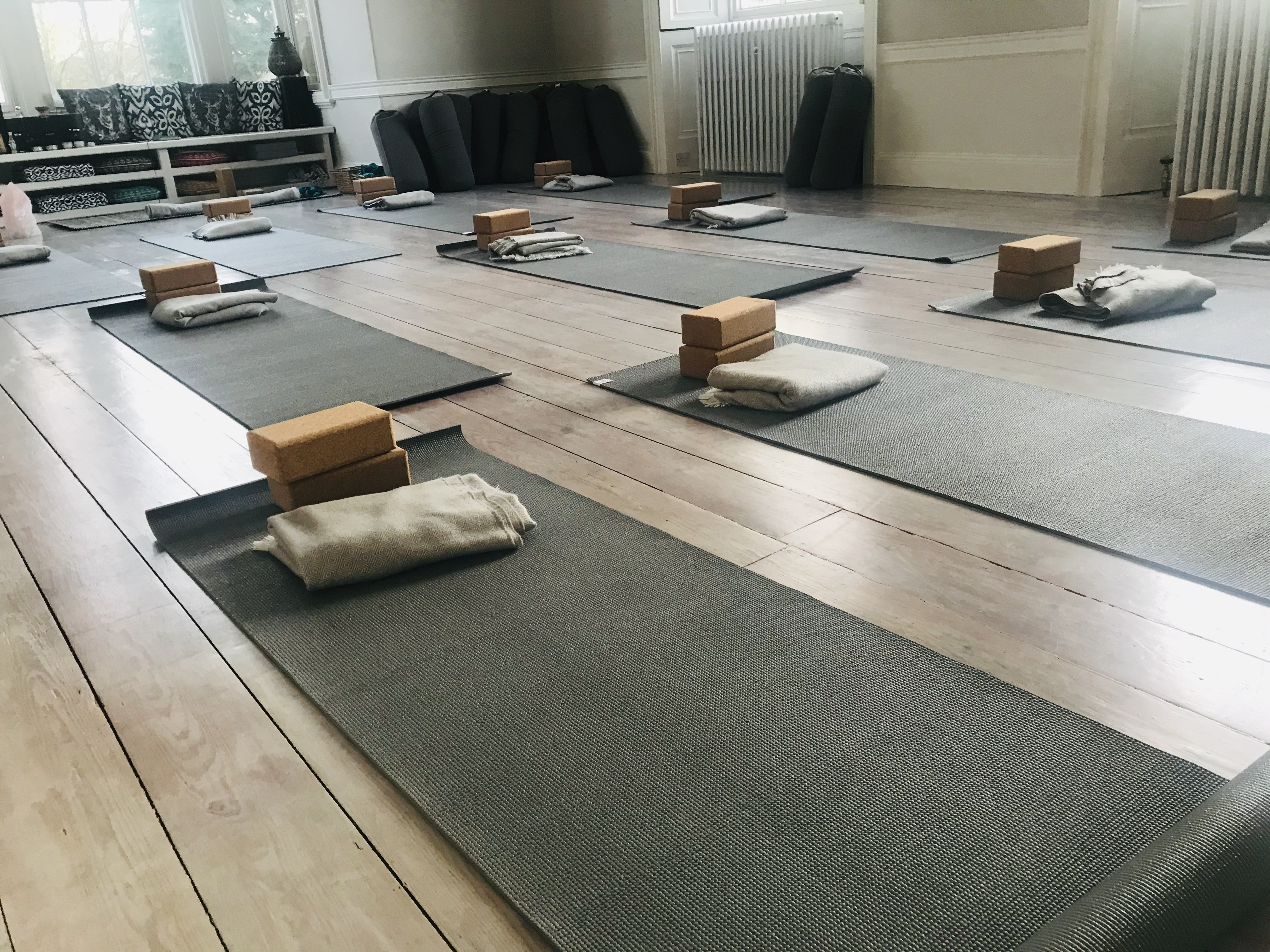 Yoga studio at YogaSpace Yorkshire yoga near me