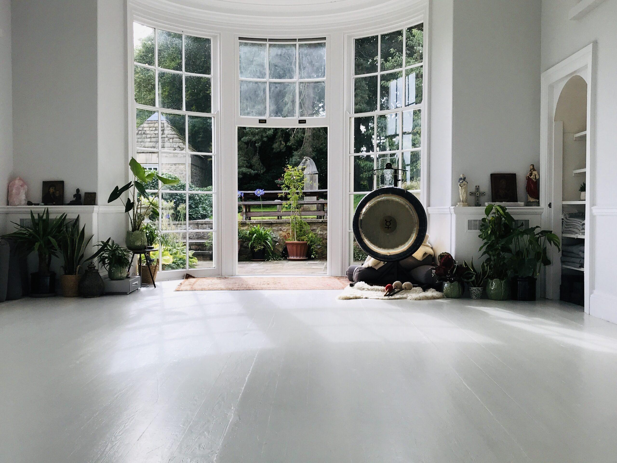 Studio Ananda at YogaSpaceYorkshire yoga retreat and yoga studio North Yorkshire