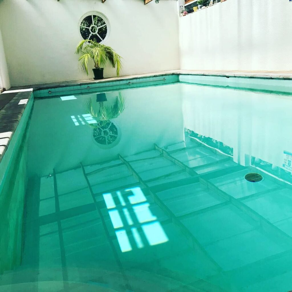swimming pool at YogaSpace Yorkshire yoga and retreat centre